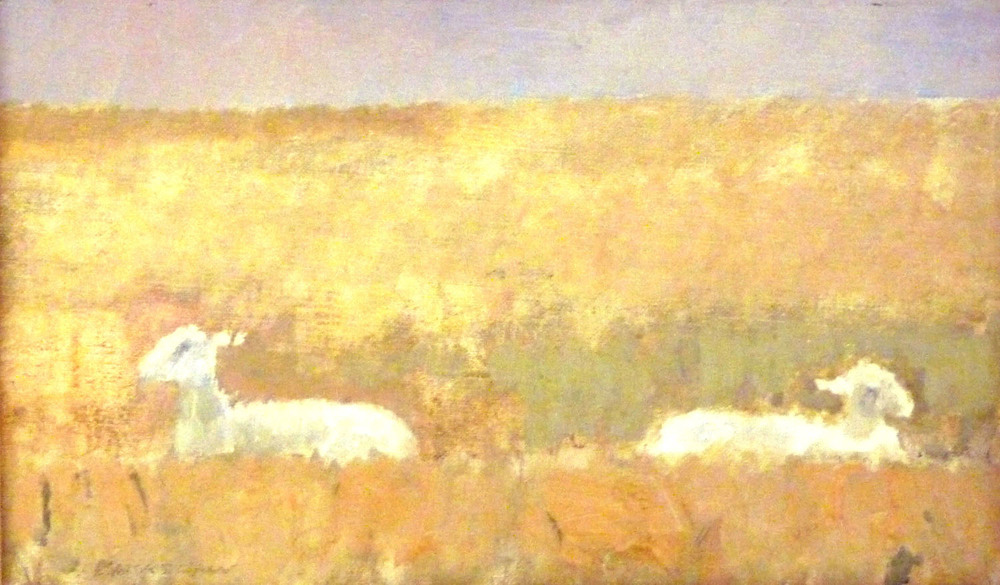 Basil Blackshaw_-_Two Sheep_oil on canvas_15 x 26cm.jpg