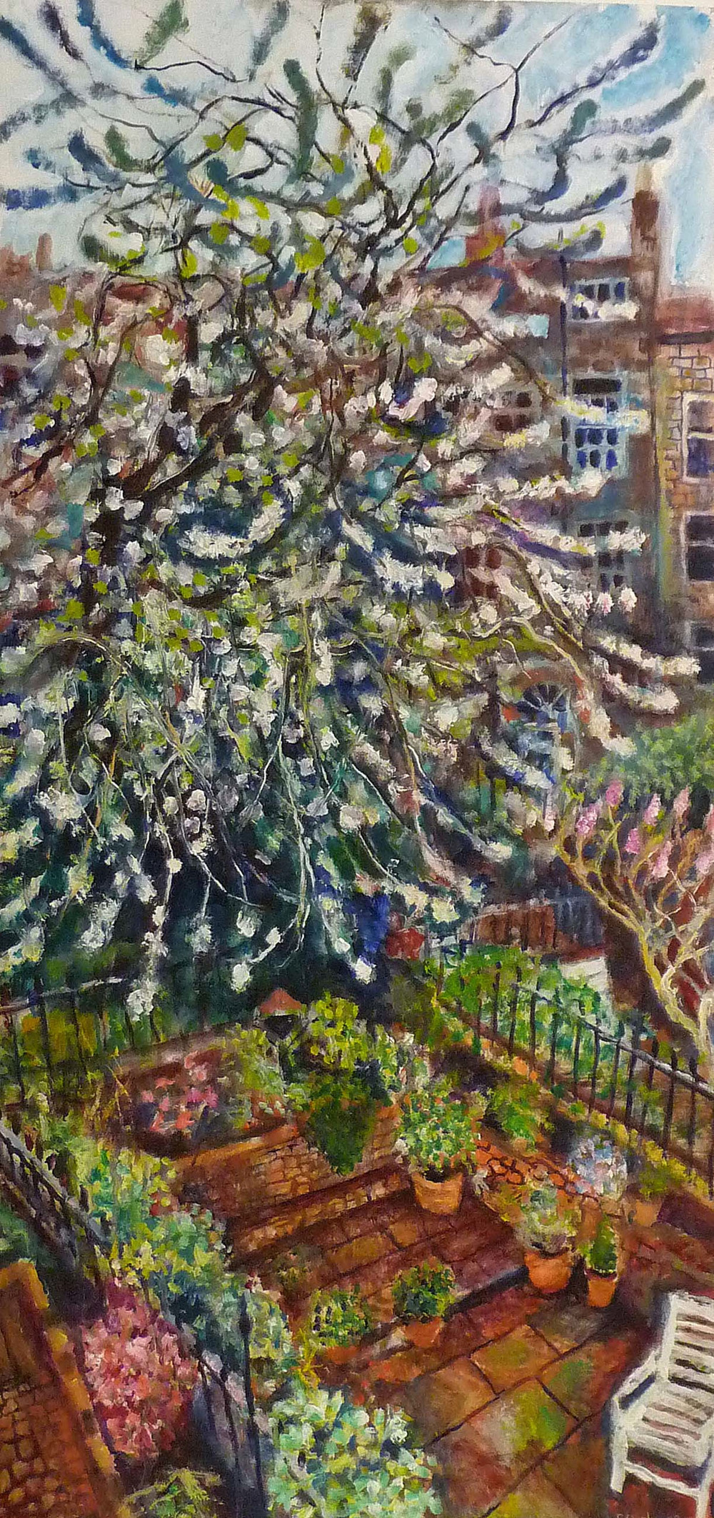 Sarah Longley_-_Cherry Blossom (Eddie's View)_oil on board_89 x 43cm.jpg