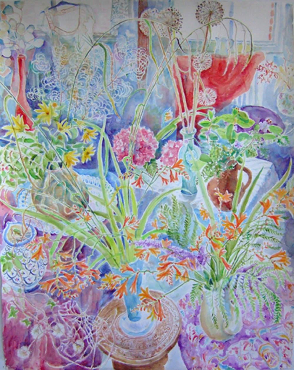 Sarah longley_-_Garden Flower_watercolour_152.5 x 122cm.jpg