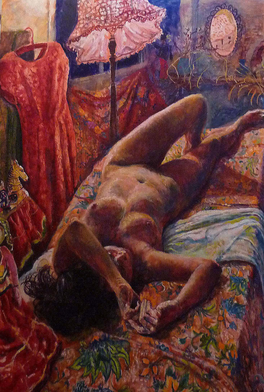 Sarah Longley_-_Nude by Lamplight_oil on board_155 x 108cm.jpg