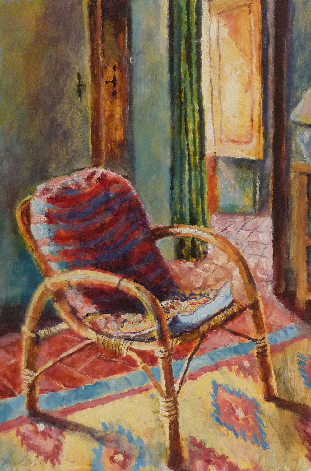 Sarah Longley_-_Ron's Chair_oil on board_45 x 31cm.jpg
