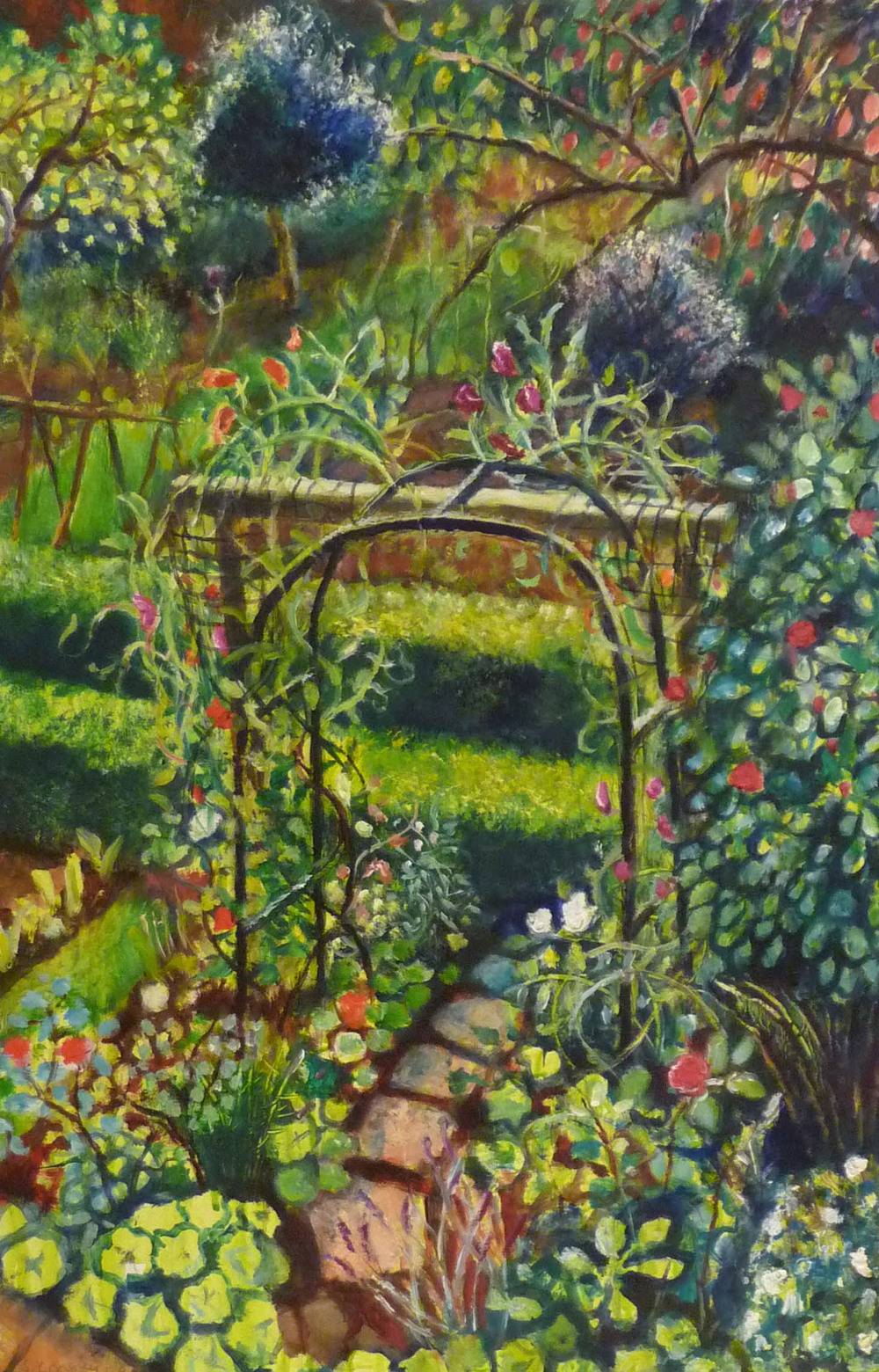 Sarah Longley_-_Sweet Pea Trellis_oil on board_61 x 41cm.jpg