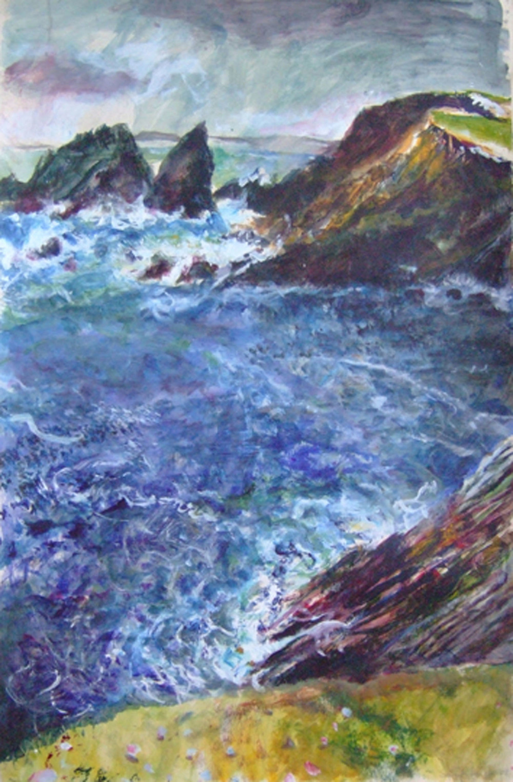Sarah Longley_-_The Cliffs at Burra_acrylic on card_91 x 61cm.jpg