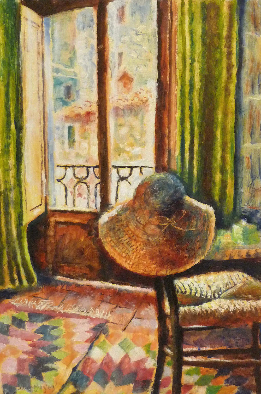 Sarah Longly_-_The Sun Hat_oil on board_45 x 31cm.jpg