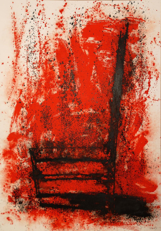 Neil Shawcross_2007_Chair #14_acrylic on paper_130 x 94cm.jpg