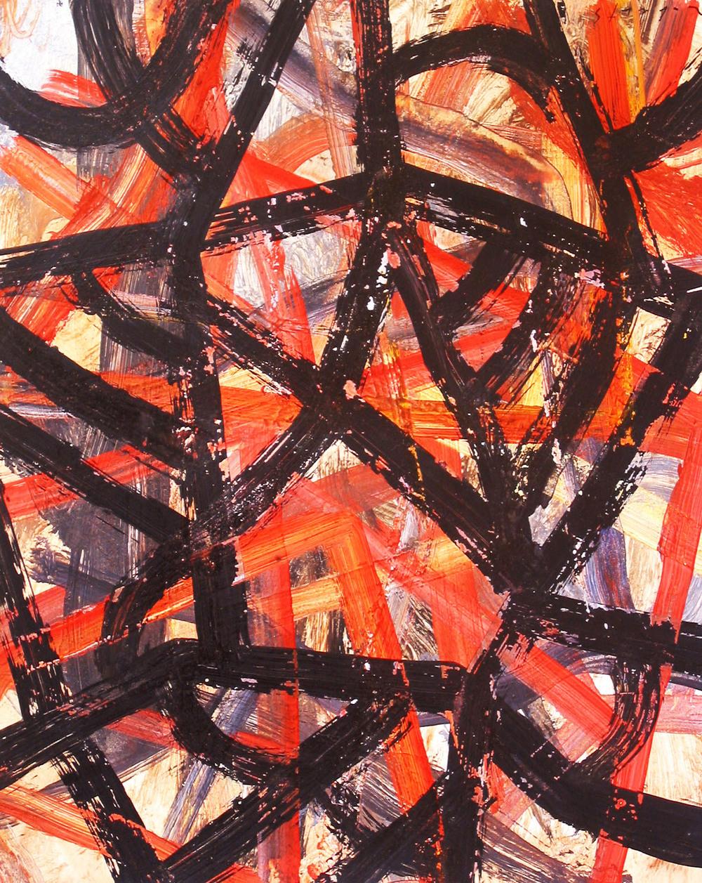 Liam Roberts_2004_Line-Head_gouache on paper_23.5 x 19.5cm.jpg
