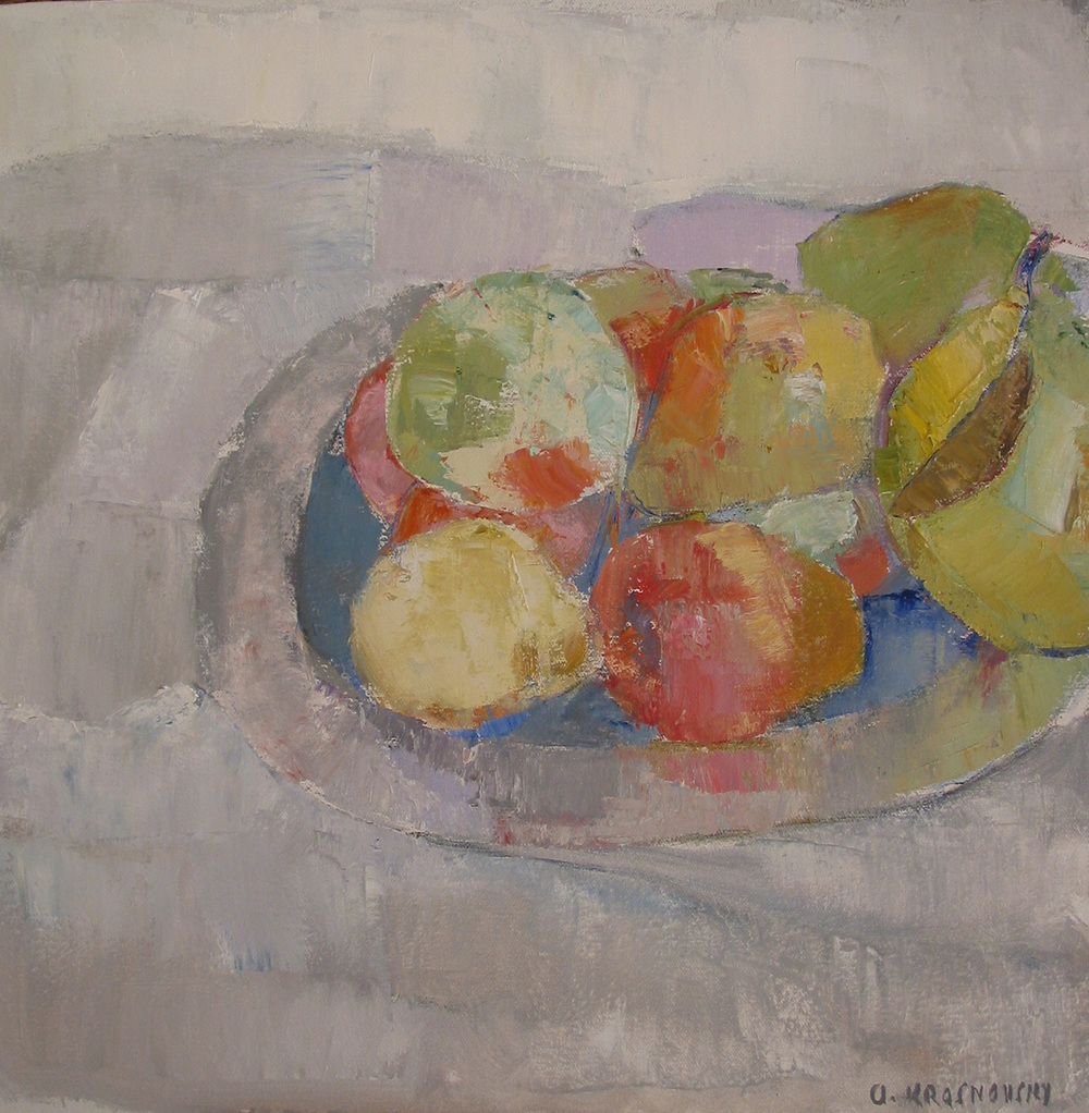 Alexey Krasnovsky_-_Pewter, Plate and Fruits.jpg