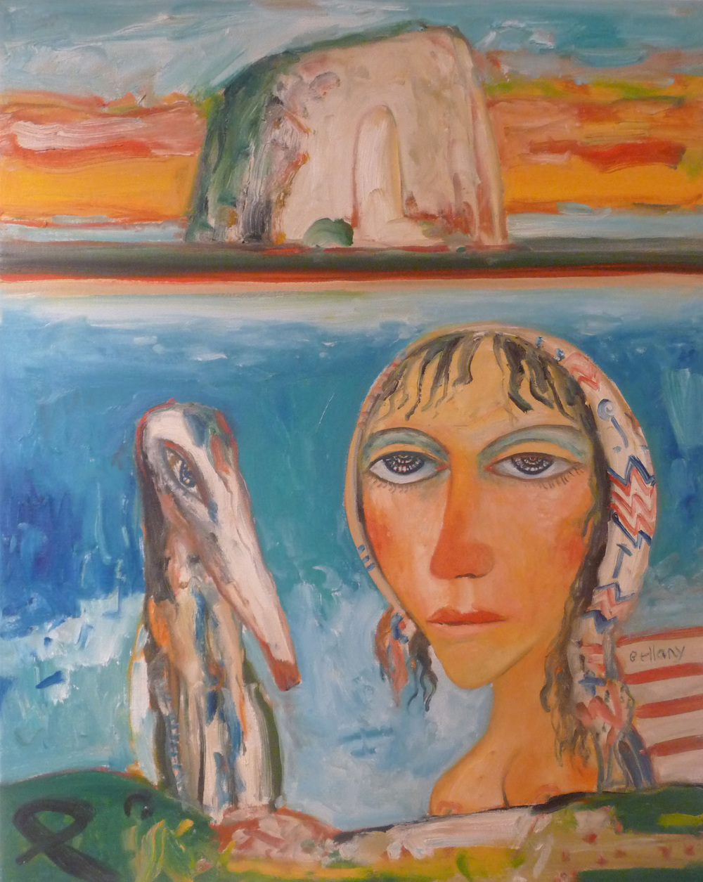 John Bellany 'Woman With Dog' 76 x 61cm.jpg