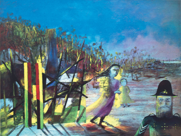 Sidney Nolan 'Mrs Reardon at Glenrowan' 1946 screenprint (44 of 60) 48x63cm.jpg
