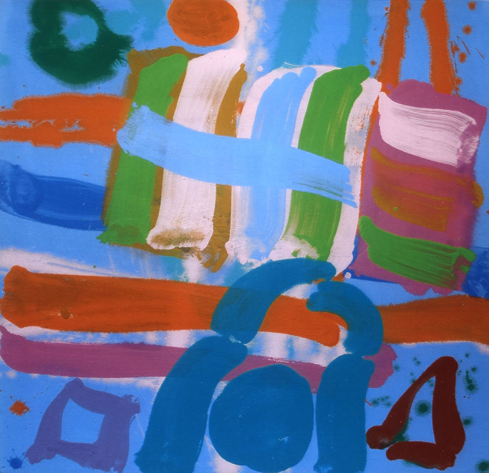 Albert Irvin 'Tideway II' 2009 acrylic on canvas 61x61cm.jpg