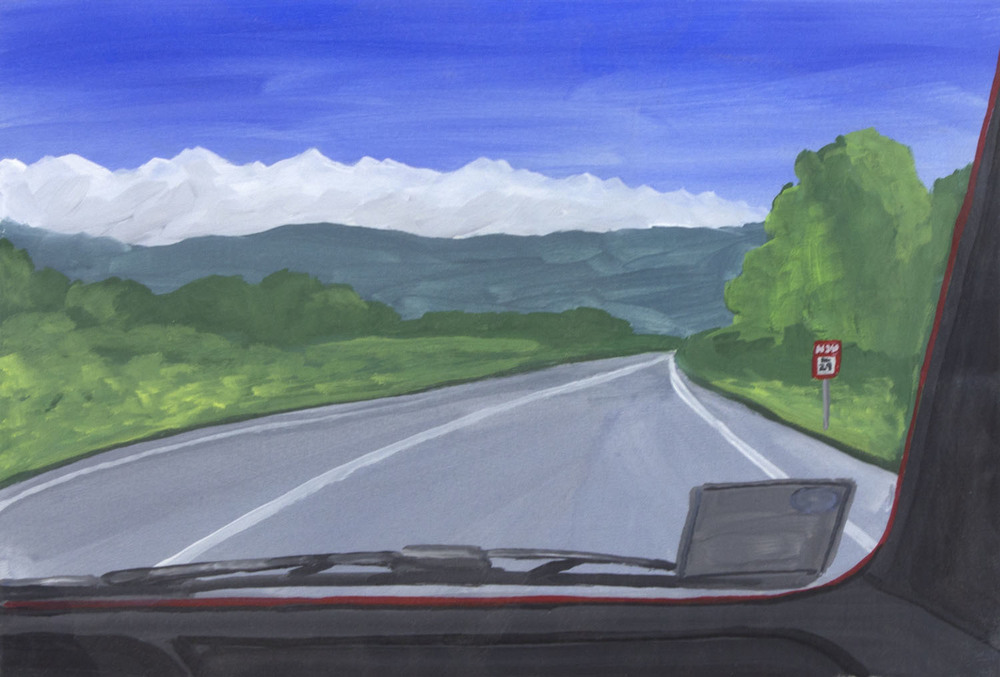 Andrew Vickery 'Driving Home' gouache on card 25x36cm.jpg