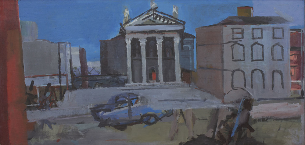 Joseph O'Connor 'St Audin's Church' oil on board 44x90cm.jpg