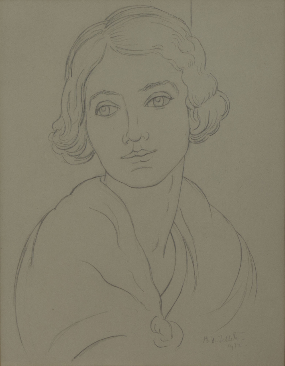 Mainie Jellett 'Head Of A Girl' 1932 pencil drawing on paper 29x23cm.jpg