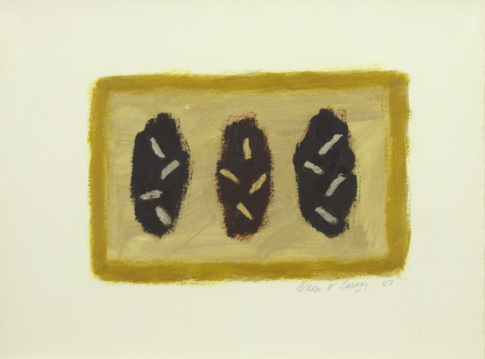 Breon O'Casey 'Bushes' 2007 acrylic on paper 28x37cm.jpg