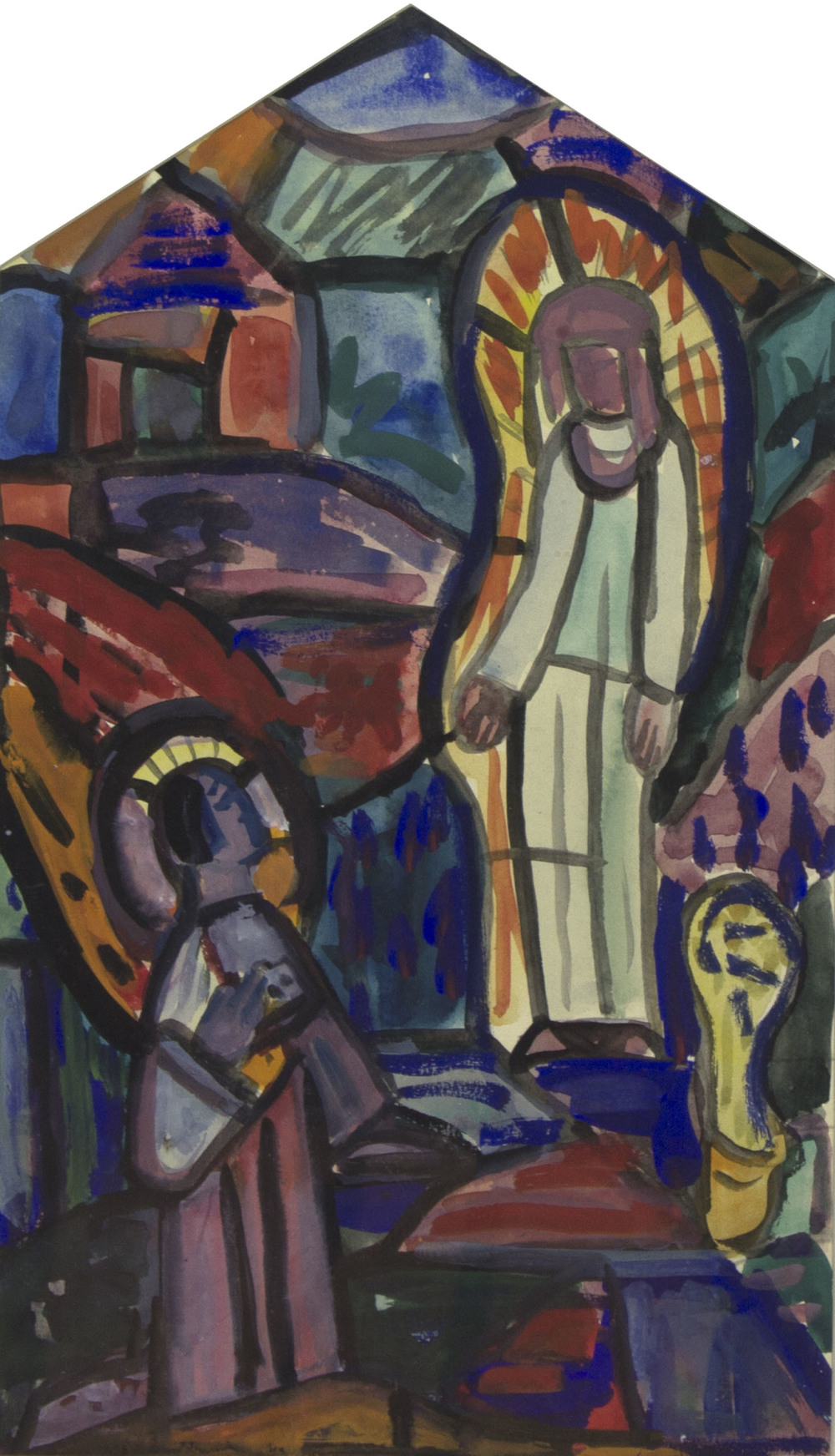 Evie Hone 'The Annunciation' gouache 38x22cm.jpg