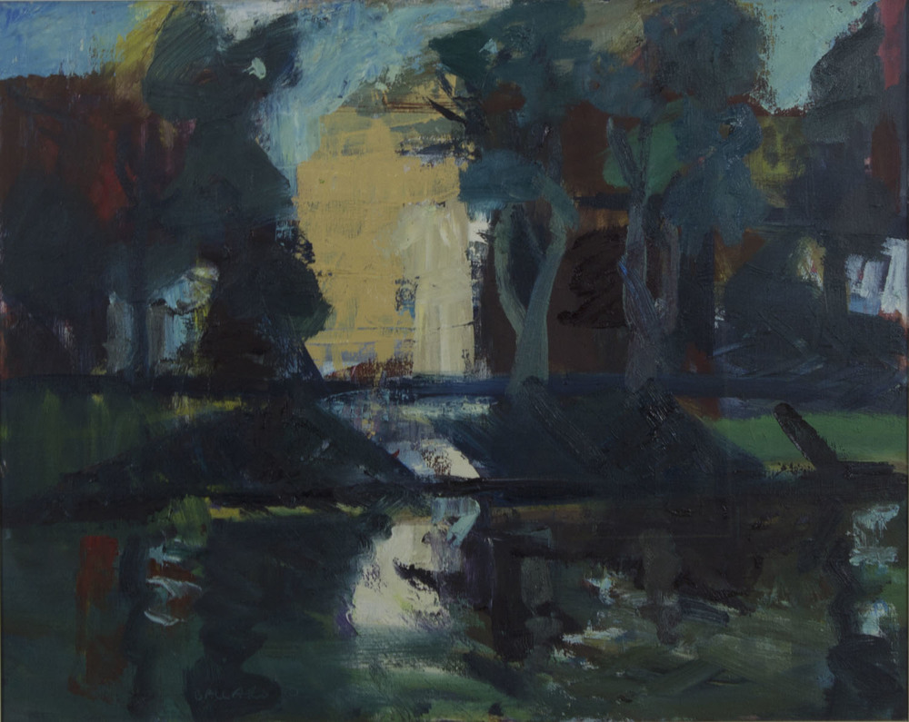 Brian Ballard 'Lagan At Stranmillis' 2010 oil on canvas 61x76cm.jpg