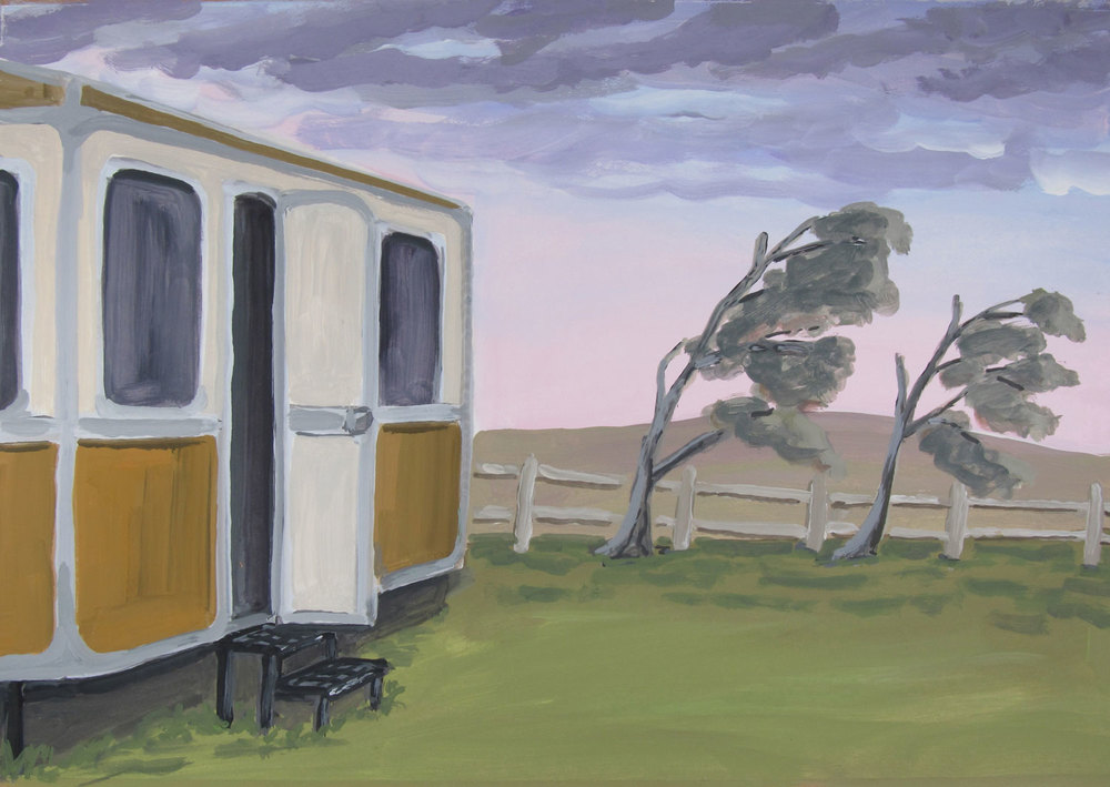 Arcades-Ambo---Caravan,Near Malin Head.-Gouache-on-paper----25-x-36cm---2012.jpg