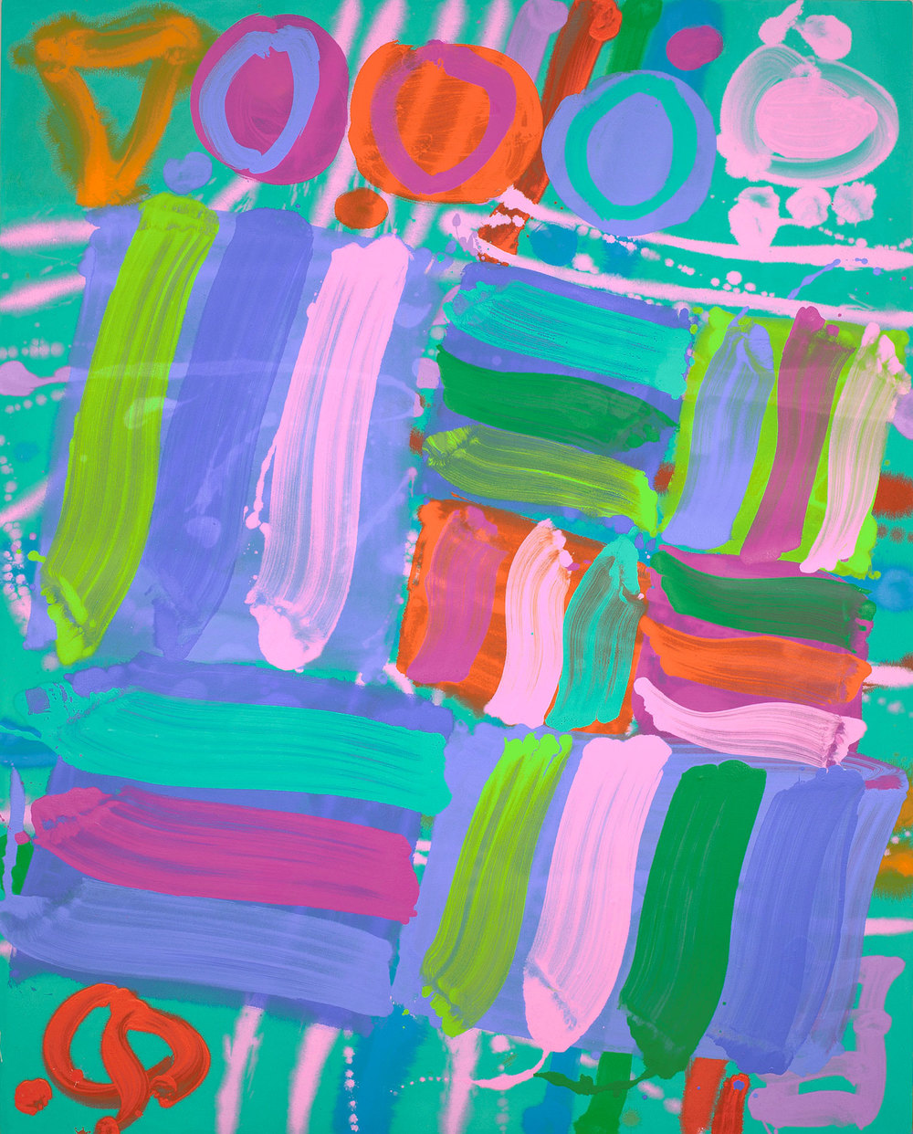 Albert Irvin RA.OBE. 2010,  Allegro,  Acrylic on canvas, 152x152cm
