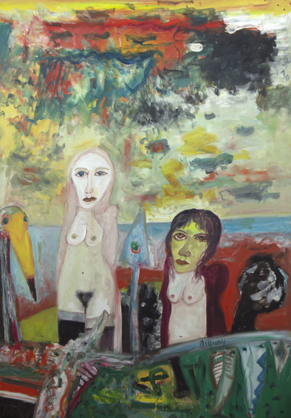 John Bellany CBE. RA. Tranquility, Oil on canvas, 173x122cm.