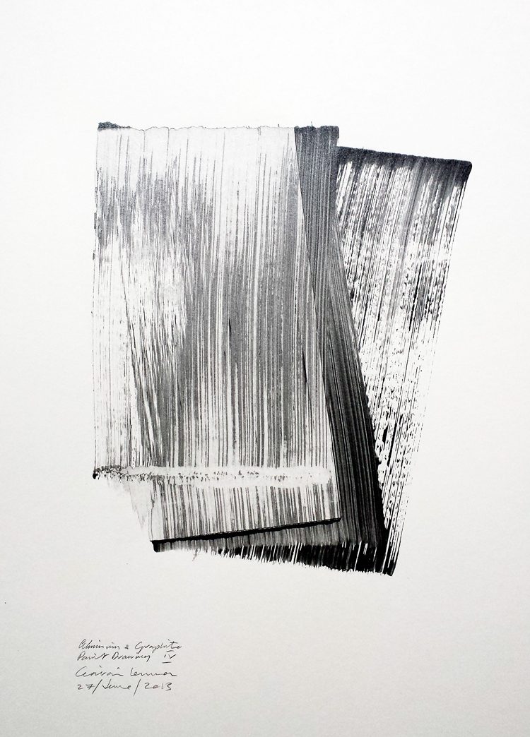 Aluminium & Graphite Paint Drawing IV