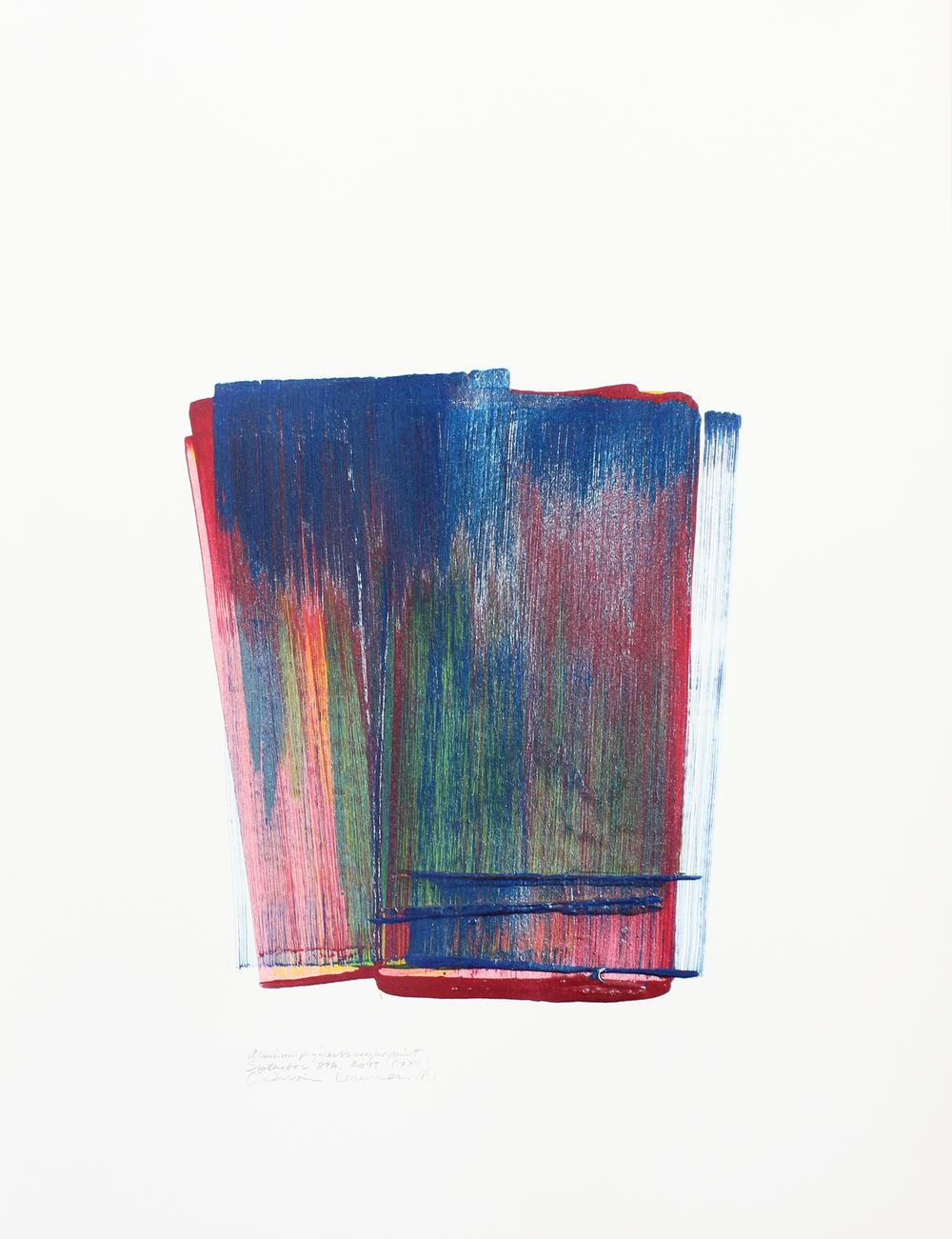 XX III    Acrylic Paint Drawing, 79x59cm