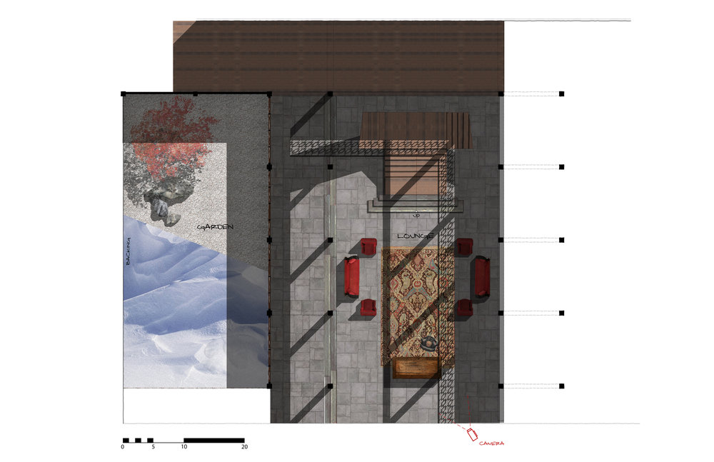 FLOOR PLAN - LOUNGE + GARDEN