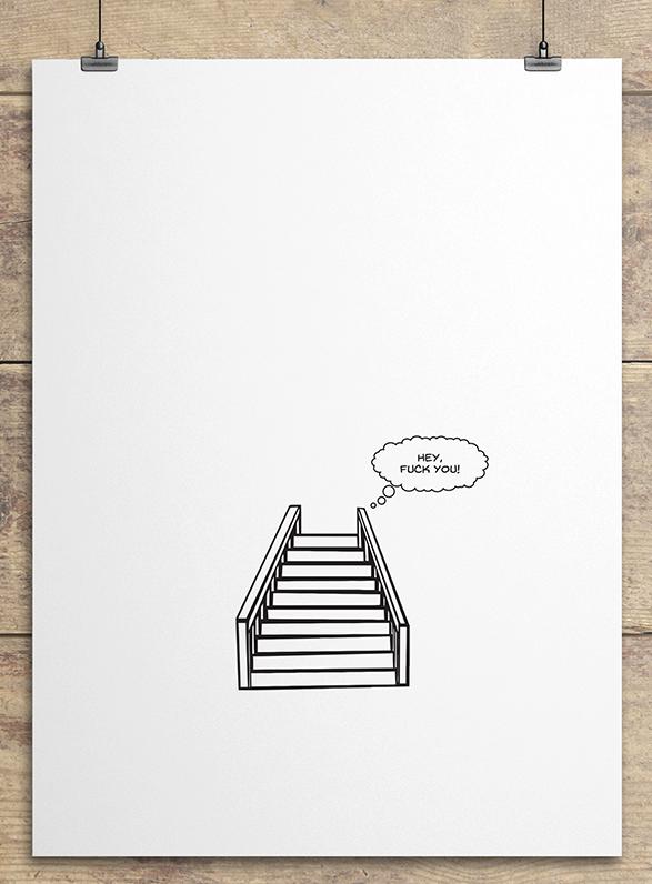 """""""L'esprit de l'escalier""""   Wiki Link"""