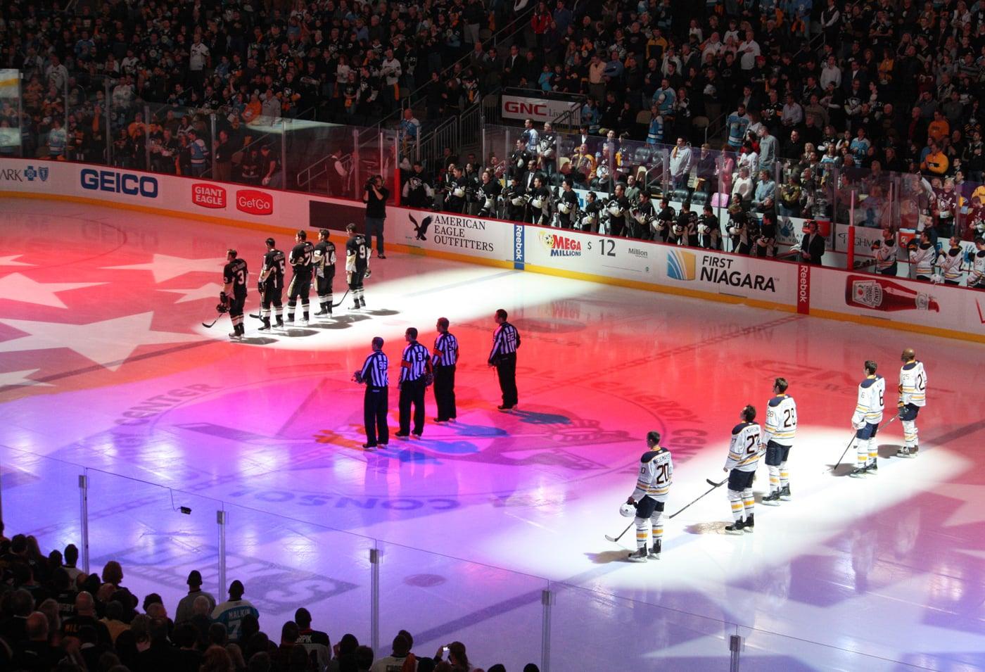 ice hockey photographs camera settings penshire media photo