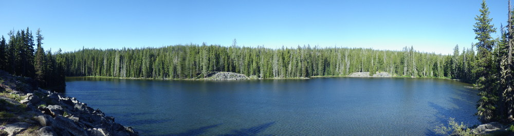 Panoramic view of Snowshoe Lake