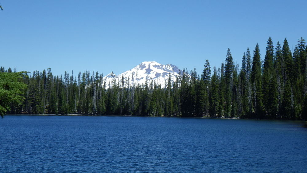 South and North Sister overlooking Lucky Lake