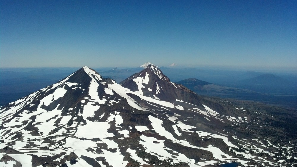 One of the many views from the summit of South Sister (Click for larger image)