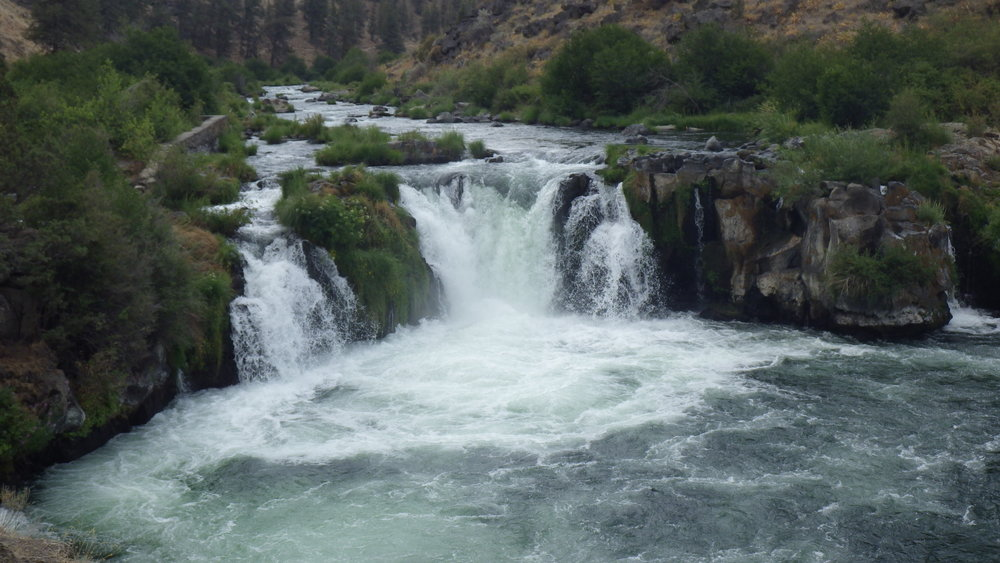 Steelhead Falls from the cliffs just below the falls