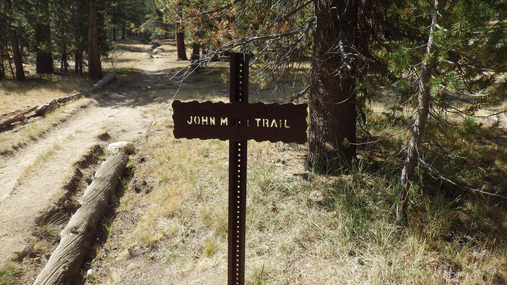 One of the many John Muir Trail Signs