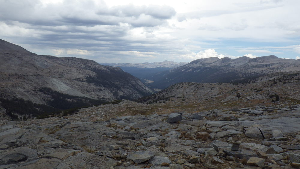 Looking into Lyell Canyon from Donahue Pass