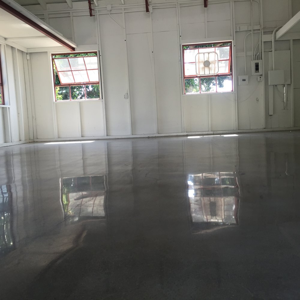 After: Polished concrete 800 grit finish