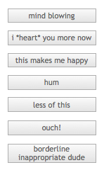 User Generated Opinion Buttons