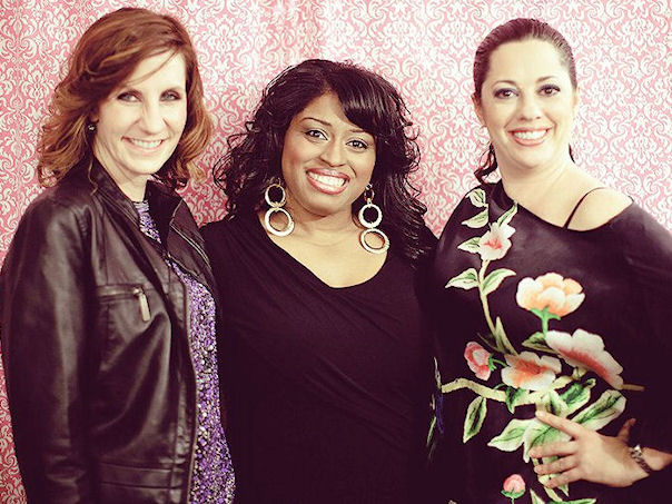 "Chenese Bean Makeup Artistry ""Open House"" event;  With Nancy Dawson of b rideface  and makeup artist Rachel Lisa."