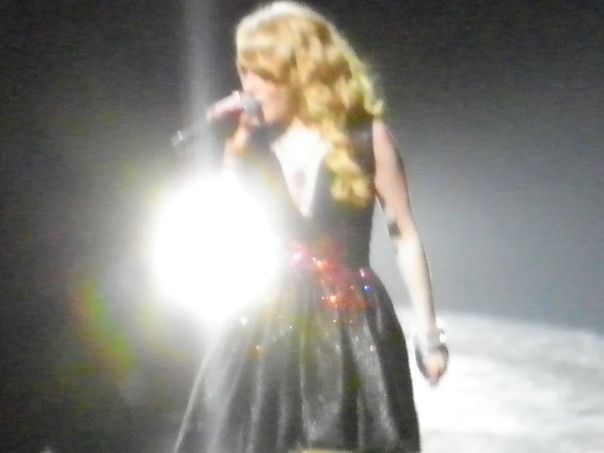 Hollie Cavanagh performing at the  American Idol Tour Cincinnati 2012 concert.