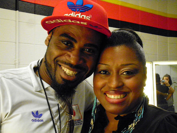 With hair stylist Neil Wilson at the A merican Idol Tour Cincinnati 2012.