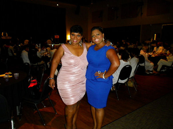 With on-air radio personality Faith Daniels at a special auction event.