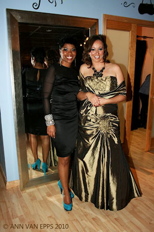 Teresa Washington owner of  Paris J Boutique  with makeover winner.