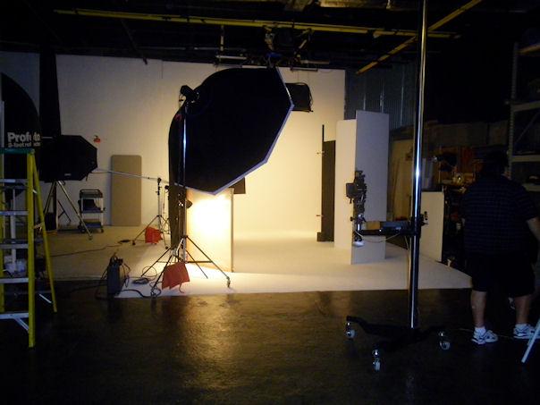 On set at  River Imaging