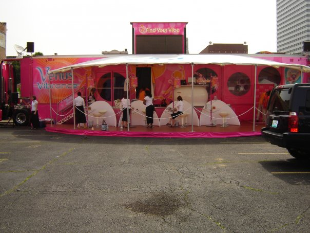 Working for Covergirl & Gilette in the Venus Vibrance Booth at Taste of Cincinnati.