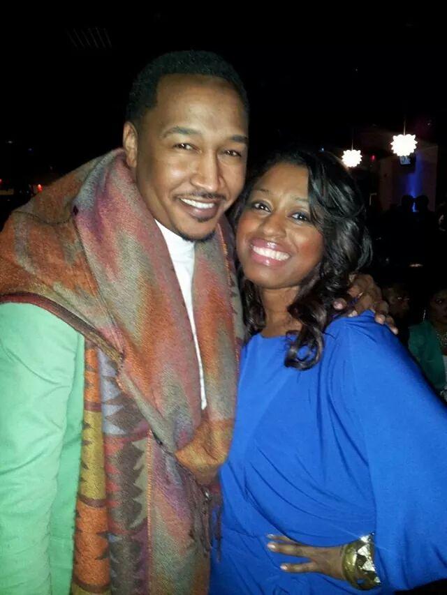 With celebrity fashion stylist Jason Bolin. Stellar Awards weekend 2014
