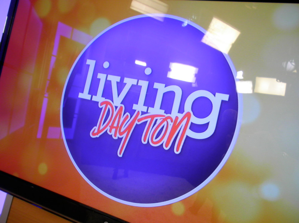 "On set of :Living Dayton"" at the WDTN channel 2 news station."
