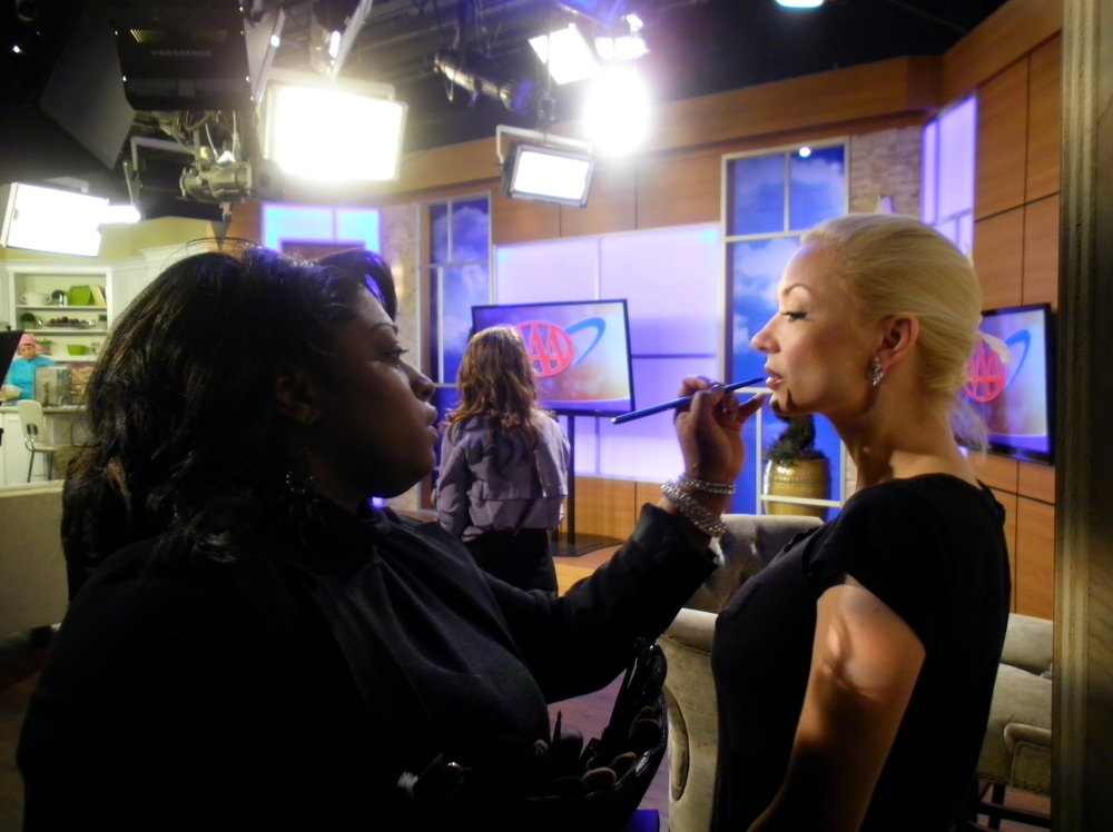 """On set of :Living Dayton"""" at the WDTN channel 2 news station."""
