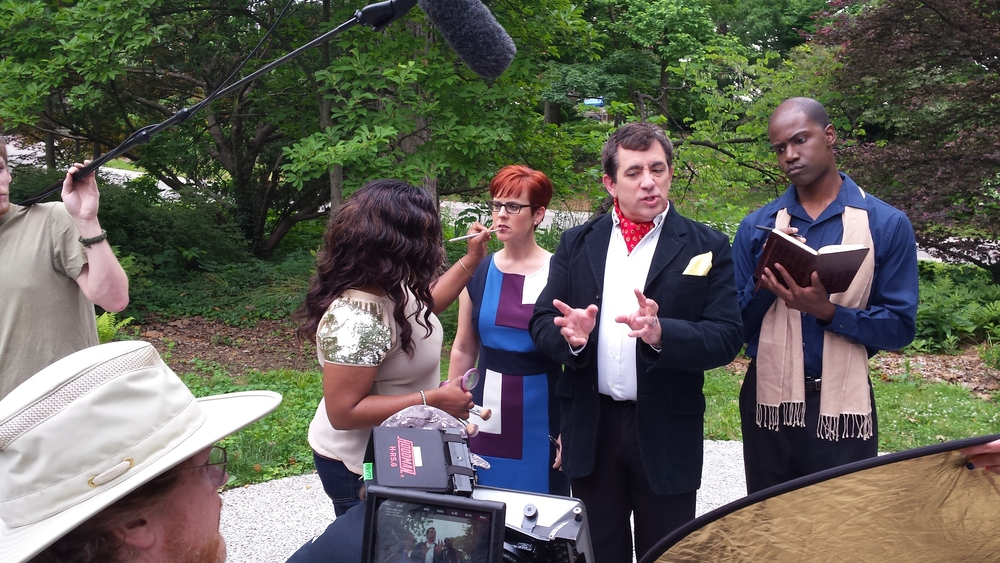 On set for a TV commercial for Cincinnati Zoo. Directed by Alphonzo Wesson.