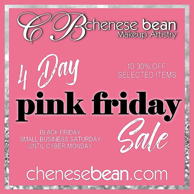 Pink Friday is coming... are you ready? Shop www.chenesebean.com 🌸 #blackfriday #pinkfriday #holidaysale #fourdaysale #thanksgivingweekend #smallbusinesssaturday #cybermonday #giftsforher