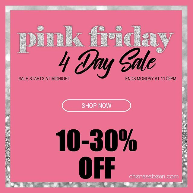 Sale begins at midnight! 🎀 #pinkfriday #blackfriday #smallbusinesssaturday #cybermonday