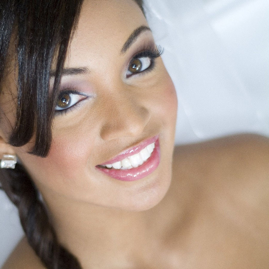 Bridal Makeup - Pink Lips - Smokey Eye - Chenese Bean Makeup Artistry  Easley Blessed Photography